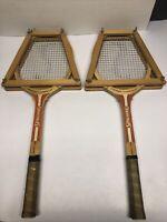 Vintage Wooden Tennis Racket Lot Of 2 Rosie Casals Ed. 336 Spalding See Conditio