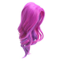 Fuchsia Middle Parting Curly Hair Wig for 18'' AG American Doll Doll Custom Use
