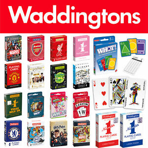 Waddingtons Poker Playing Cards & Card Games - Classic, Marvel, DC, Harry Potter