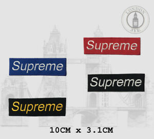 SUPREME Iron on Sew on Badge Patch Embroidered Logo Box Applique For Clothes