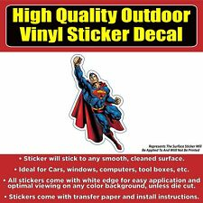 Superman Flying Car Window Bumper Sticker Decal