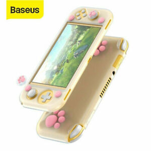 Kawaii For Nintendo Switch Lite Soft Protective Case Cover+Cute Thumb Grip Caps