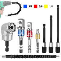 "105°Right Angle Drill Flexible Shaft Extension 1/4"" Hex Shank Socket Adapter Set"