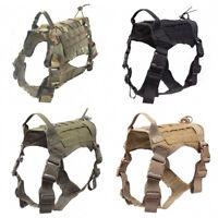 Tactical Service Dog Coat Molle Adjustable K9 Training Hunting Dog Harness