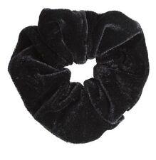 New Pack 2 Black Velvet Hair Band Scrunchie Girls Ladies Hair Accessory HA25634