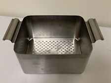 Dental Ultrasonic Cleaner Basket Stainless Steal Withhandles 85 X7x45 In