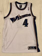 Reebok NBA Antwan Jamison SIGNED Washington Wizards White (Size 48) Jersey