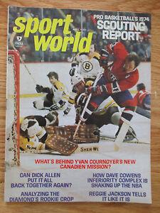 BOBBY ORR ED JOHNSTON Sport World (April 1974) Magazine YVAN COURNOYER