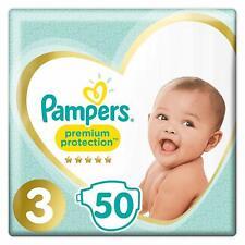 Couches Pampers Premium Protection 50 Couches Bébé Taille 3 Lot De 2 x 50 Pack