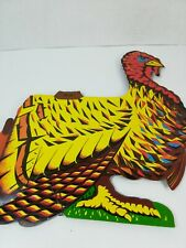"""VINTAGE PAPER ART 10"""" THANKSGIVING TURKEY HONEYCOMB TISSUE CENTERPIECE JAPAN"""
