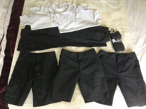 Boys School Bundle Grey Trousers, Shorts, Socks & Polo Shirts - Age 6-7 Years