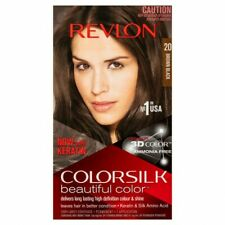 3 X REVLON COLOURSILK HAIR COLOUR 20 BROWN BLACK   3D COLOUR NO AMMONIA