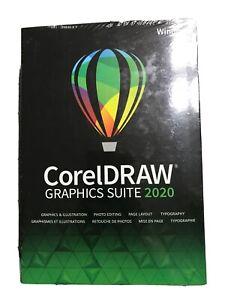 BRAND NEW CorelDRAW Graphics Suite 2020 for Windows PC