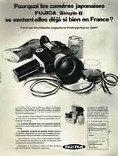 H- Publicité Advertising 1970 La Camera Fujica Single 8 Fuji Film
