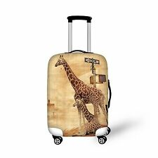 Giraffe Printing Travel Accessories Scratch Resistant Luggage Covers Elastic