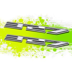 X2 Chrome SBC 327 5.3 Metal Bumper Trunk Grill Fender Emblem Decal Sticker Badge