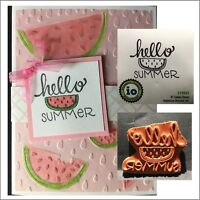 Hello Summer Watermelon Cling Stamp Impression Obsession Stamps C19531
