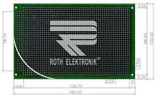 RE334-LF Laborkarte, Platine HF FR4 2,54mm durchkontaktiert Roth Elektronik