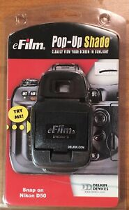 eFilm Pop Up Shade for Nikon D50 By Delkin BRAND NEW