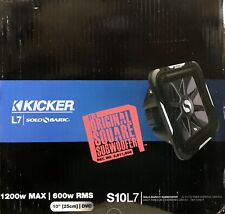"NEW Kicker 11S10L74 10"" Solo-Baric L7 Series Dual 4 ohm Subwoofer"