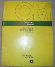 JOHN DEERE 2440 2640 TRACTOR OPERATION & MAINTENANCE MANUAL BOOK