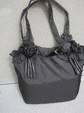 ♛ romantische Damentasche ♛ Tasche mit Blüten ♛schwarz♛Neu ♛leichtes Raumwunder♛