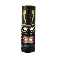 Turquoise Tiki Head Face Wood Totem Statue Tropical Bar Patio Luau 3D Wall Decor