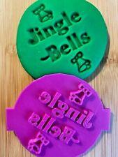 JINGLE BELLS CHRISTMAS Fondant Icing Cupcake Cookie Embosser Stamp - UK