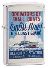 Zippo Windproof Vintage Coast Guard War Poster Lighter, 29598,  New In Box