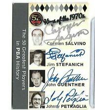 Johnny Petraglia Salvino Stefanvich Guenther PBA quad autograph Tk legacy