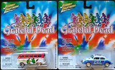 Lot of 2 Johnny Lightning Volkswagen buses - Grateful Dead, Surf Rods MINT NOC