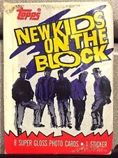 New Kids On The Block Trading Cards Sealed Pack 1989 Topps 8 Photo Cards Sticker