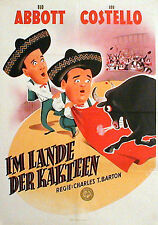 Abbott & Costello in MEXICAN HAYRIDE rare 1sh from 1951