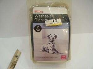 Petco Washable Dog Diapers XL 2 Pack Denim Blue 50-90 lb SHIPS FREE
