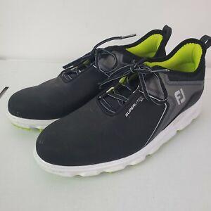 FootJoy SuperLites XP Spikeless Golf Shoes Black/Lime Sz 8 1/2 8.5 Mens GUC
