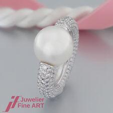 RING mit 1 Südsee-Perle und 340 Brillanten(Diamant) ges. 5,37ct - 18K/750 WG