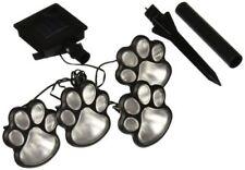 4 Solar Dog Cat Animal Paw Print Lights Garden Outdoor LED Path Lamp Auto On