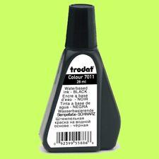 Schwarz Trodat 7011 Nachfülltinte 28ml Stempel Kissen Tinte Farbe Stempelkissen