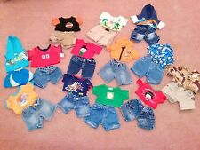Build-a-Bear Workshop  Boys  lot of 13 outfits clothes