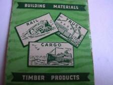 "1940's Foley Lumber Industries ""Building Materials"" Jacksonville Fl Matchcover"