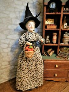 Dollhouse Miniature Vintage Old Witch Doll 1:12 Scale OOAK