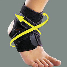 Ankle Support Brace Foot Guard Sport Injury Wrap Elastic Splint Strap Protector-