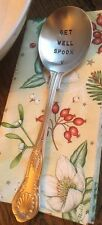 Get Well Spoon - Quirky Uplifting Silver Plated Antique Spoon Gift