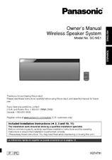 Panasonic SC-NE1 Wireless Speaker System Owners Instruction Manual