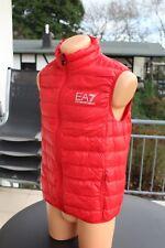 Emporio Armani EA7 Weste Herren Herrenweste Größe M Neuwertig Daunenweste Rot
