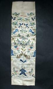 Antique Chinese Silk Embroidery Sleeve Band Robe Embroidered