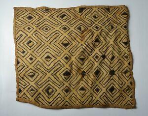 Vintage Kuba Raffia textile African tribal art  home decoration