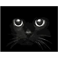 Terrifying Cat Painting By Numbers Acrylic Abstract Wall Art Home Garden Decors