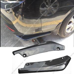 Carbon Fiber Universal Rear Bumper Lip Splitters j Winglets Canards 17.7 Inch PP