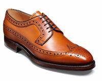 Handmade Men Tan Lace Up wingtip brogue formal Shoes,Men dress shoe LEATHER SOLE